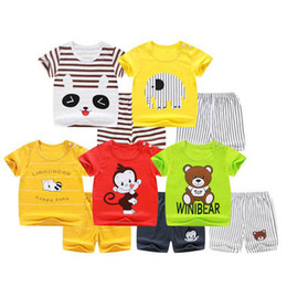 red green christmas outfits 2019 - 10 style Kids Clothing Sets Summer Baby Clothes Cartoon fashion Print for Boys girl Outfits Toddler Fashion T-shirt beac