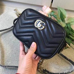 Ladies Metallic Dresses Australia - 2019 SALE Womens Luxury Wave Heart Marmont Handbags Triple Black White Red Leather Shoulder Bag Lady Fashion Handles Chain Dress Totes
