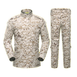 Combat uniform online shopping - Army Outdoors climbing Uniform Color Camouflage Tactical Men Clothes Special Forces Combat Shirt Soldier Training Clothes Set