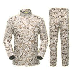 Ejército Aire libre escalada Uniforme 8 Color Camuflaje Táctico Hombres Ropa Fuerzas especiales Combate Camisa Soldado Entrenamiento Conjunto de ropa en venta