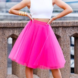 Women Tutu Plus Size Australia - Women Knee Length Tulle Skirt Women Pink Empire Girls Tutu Plus Size Tulle Skirts Designer Secret Custom
