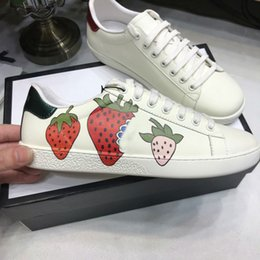 tiger sneakers Australia - Ace Shoes Designer Shoes strawberry leather Casual Sneakers embroidery bee,flowers tigers fruit dragon Men Women Sneakers Size us5-us13 t04