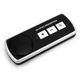 Discount bluetooth phone adapter for car - Sun Visor Receiver Multipoint Car Kit Adapter Wireless Call For Phones Easy Installation Handsfree Bluetooth V4.0 Univer