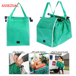 $enCountryForm.capitalKeyWord Australia - ASSEZSAC 1 pc Shopping Bag Foldable Eco-friendly Reusable Large Trolley Supermarket Large Capacity Tote Bag