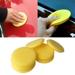 Car Waxing Pads Australia - 12pcs lot Car Vehicle Wax Polish Foam Sponge Hand Soft Wax Yellow Sponge Pad Buffer for Car Detailing Care Wash Clean