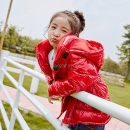 white raincoats Canada - -30 Degree Boys Girl Cold Winter Raincoat Thick Warm White Duck Down SnowCoat Kids Waterproof Windproof Jacket Children Overcoat