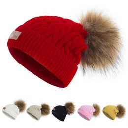 $enCountryForm.capitalKeyWord Australia - Fall Children Twist Pattern Winter Pom Pom Hats For Kids Beanie Cap Baby Girls Boys Fur Ball Hat Bonnet Gorro Touca Chapeu