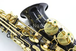 brass black saxophones 2019 - Yanagisawa A-992 New Brass Alto Eb Tune Saxophone Black Nickel Plated Body Gold Lacquer Key Sax Musical Instrument with