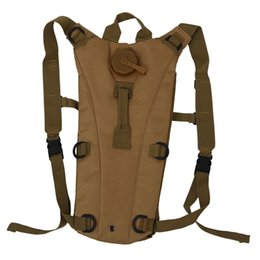 survival backpacks 2019 - 3L Hydration System Water Bag Backpack Pouch Bladder Climbing Hikeing Survival Tan cheap survival backpacks