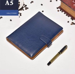 $enCountryForm.capitalKeyWord Australia - Office Classic High-end notebook Business Supply Advanced Leather Cover Agenda Handmade T-notebook Periodical Logo Diary Office Notepad