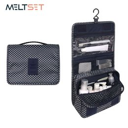 Wholesale Womens Cosmetic Bags Australia - Hanging Toiletry Kit Clear Travel Storage Bag Cosmetic Carry Toiletry Pockets For Womens Wash Bag Traveling Bathroom Makeup