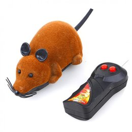 $enCountryForm.capitalKeyWord Australia - 4 Colors Wireless Remote Control Mouse Toy Interactive Plush Electronic RC Rat Mice Funny Pet Dog Cat MouseToy For Children