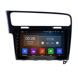 Stereo Din Volkswagen Australia - Android 9.0 10.1 Inch OEM Car Stereo for 2013 2014 2015 VW Volkswagen GOLF 7 with Bluetooth Music support car dvd Rear camera TPMS DVR OBDII