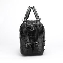 Genuine Leather Snakeskin NZ - Luxury Genuine Leather Womens Bucket High Quality Real Leather Revit Desgin Handbag Fashion Casual Womens Handbag