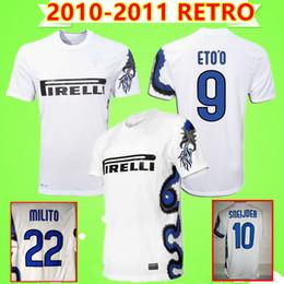 98c0a2f37fb J.ZANETTI SNEIJDER MILITO 2010 2011 inter RETRO soccer jersey white 10 11  classic camicia vintage milan Maglia da calcio Dragon shirt AC