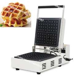 China Free Shipping Commercial Use Non Stick 110v 220v Electric 4-slice Square Belgian Liege Waffle Maker Baker Machine Iron suppliers