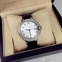 $enCountryForm.capitalKeyWord NZ - 2019 Dropshipping Famous design Luxury Leather Watch for man women Hot Sale watch With shine Diamond Japan Movement Quartz Clock hot sale