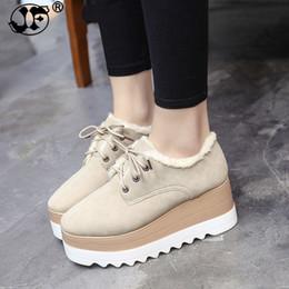 Black Platform Snow Boots Australia - 2018 Spring Autumn Shoes Woman Classic Black Suede Lace Up Platform Shoes Flats Creeper Shoes Women Boots fgb56