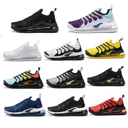 RubbeR wolf online shopping - 2019 TN Plus Men Running Shoes Triple Black White Sunset Photo Blue Wolf Grey USA Designer Shoes Sport Sneakers Trainers