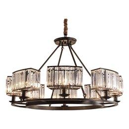Decke Lichter Led Decke Licht Led E14 Postmodernen Eisen Kristall Stoff Chrome Led Lampe Led Licht Decke Lampe Für Foyer
