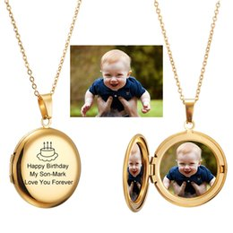 $enCountryForm.capitalKeyWord Australia - Photo Frame Custom Name Necklace Personalized Picture Photo Locket Floating Charms Choker Necklaces for Women Men Baby Jewelry