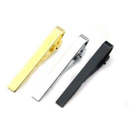 $enCountryForm.capitalKeyWord UK - Glaze Silver Gold Black Tie Clips Business Suits Shirt Necktie Tie Bar Clasps Fashion Jewelry for Men Drop Ship