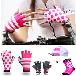 $enCountryForm.capitalKeyWord NZ - GOMGIRONA Hot Cycling Gloves Men Women Outdoor Sports Shockproof GEL Bike Gloves for Racing Bicycle with Cycling Socks Cap Set