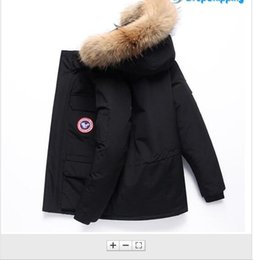 $enCountryForm.capitalKeyWord Australia - Mens Chateau Down Parka Jacket Fashion Outdoor Windproof Racoon Fur Ruff Hooded Down Jacket Goose Down Jackets canada style