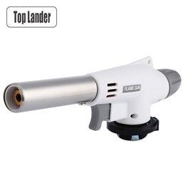 $enCountryForm.capitalKeyWord Australia - Outdoor Electronic Butane Flame Gun Gas Torch Lighter Picnic Bbq Portable Gas Adapter Cooking BBQ Fire Torch Camping Equipment