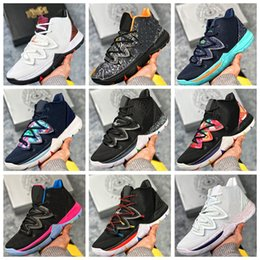 plastic magic spring 2019 - NKY05A 2019 Kyrie Taco Black Magic Sky star Mens Basketball Shoes Chaussures 5s 5 Men Rainbow Black White Sports Sneaker