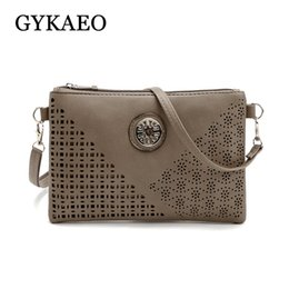 wholesale small evening bags NZ - Hot 2018 Winter Ladies Hollowed Out Casual Envelop Bags for Women Messenger Bags Female Small Evening Clutch shoulder Bag