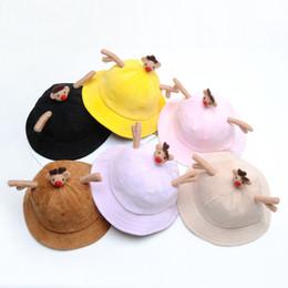 1ab35b0dd74 New 2019 Autumn Winter kids designer hats cute Kids Hats Fashion baby  Beanies Boys Caps Girls Hats Children Bucket Hat Wholesale Caps A1900