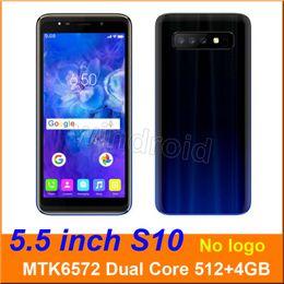 $enCountryForm.capitalKeyWord Australia - 5.5 inch S10 Dual Core Smart phone MTK6572 512+4G Android 6.0 Dual SIM CAM 5MP 960*480 3G WCDMA Unlocked Mobile Gesture wake Free DHL 5pcs