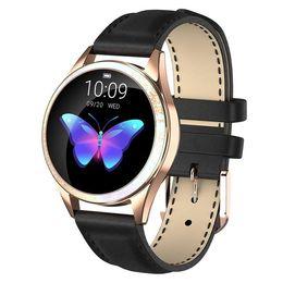 IP68 a prueba de agua inteligente mujeres del reloj de pulsera preciosa monitor de ritmo cardíaco del sueño Monitoreo SmartBand Conectar IOS Android KW20 en venta