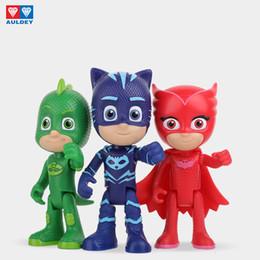 Auldey PJ Masks Kids Manga Articulated Figure Series Gekko Catboy Owlette Romeo Luna Girl Night Ninja Movable Toys Boys Girls Gift Toy on Sale