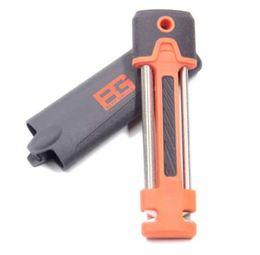 Quality Utility Kitchen Knife NZ - Multi-Functional Outdoor Knife Sharpener Orange Color Portable Kitchen Tools High Quality Utility Mini Knife Sharpening Rod Sale