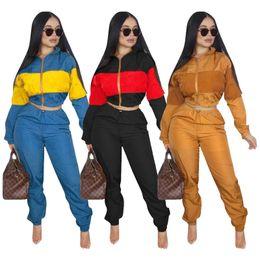 75707da2b0 Black short sleeve crop top online shopping - Brand designer women winter  outfits Embroidery letter jacket