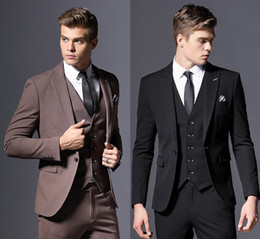elegant tuxedos for men NZ - Elegant Tailor Made Business Suits For Men Grey Formal Dress Men Wedding Suit Groom Tuxedos 3 Pieces Costume Homme (Jackets+Pants+Vest)