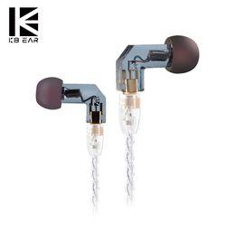 Chinese  KBEAR F1 In Ear Earphone 1 Balanced Armature Driver High-End HIFI Bass Headset DJ Monitor Earphone Earbuds Headphone manufacturers
