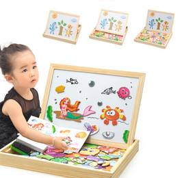 $enCountryForm.capitalKeyWord Australia - Wooden Magnetic Puzzle Baby Wooden Toys Figure animals  Vehicle  circus Puzzles 5 Styles Puzzle Box Wood Toy Baby Gift Sticker