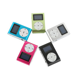 Cheap Mp3 Player USB Mini Clip MP3 Players LCD Screen Support 32GB Micro SD TF Card without Radio Pocket Audio Song Subtitles 5 Colors on Sale