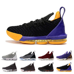 29d0620b650d 2019 New 16s Black White Gold Red Men Basketball Shoes lebrons 16 Mens  Trainers Sports Designer Basket ball Sneakers Size 7-12