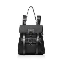 $enCountryForm.capitalKeyWord UK - Belle2019 Both Leather Genuine Shoulders Guangzhou Woman Package Backpack Waterproof Oxford Cloth Travelling Bag