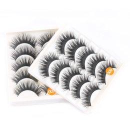 $enCountryForm.capitalKeyWord Australia - 5 Pairs Black False Eyelashes Fashion Handmade Makeup Thick Long Voluminous Fake Lashes longlasting Tools