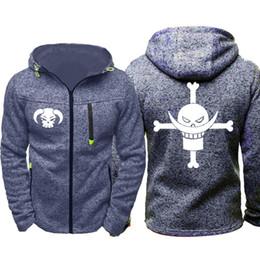 Anime one piece coAt online shopping - Anime One Piece Monkey D Luffy Men Sports Wear Men s hoodie Zipper Sweatshirt Male Jacquard Autumn Coat Spring Cardigan hoodie Tracksuit