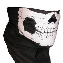 $enCountryForm.capitalKeyWord Australia - Hot Black Skull Mask Bandana Bike Motorcycle Helmet Neck Face Mask Half Face Paintball Ski Sport Headband Military Game Masks