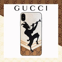 b804063d2ea Hot High-end Luxury Brand Designer case para iphone X XR Xs Max 6 6plus 7/8  7/8 Plus Funda de cuero de calidad superior Estuche Oso Imprimir