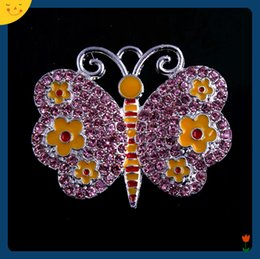 $enCountryForm.capitalKeyWord Australia - Doluo Easter Jewelry 35*50mm 10pcs Zice Alloy Butterfly Charm Rhinestone Pendants for Chunky Beads Necklace Accessories for Kids