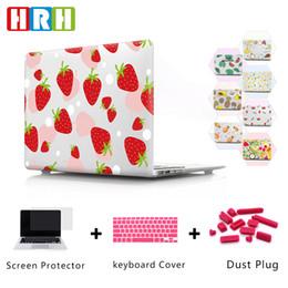 Macbook pro retina hard shell case online shopping - HRH Cartoon Fruit Laptop Body Shell Protective Hard Case Sleeve for Mac Air Pro Retina A1706 A1707 A1708 A1989