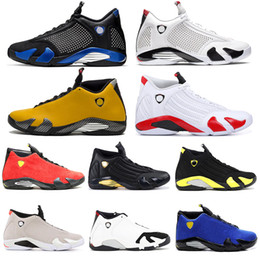 eva fishing shoe NZ - 14s 2019 mens basketball shoes XIV 23 Candy Cane Reverse Black Toe Indiglo Fusion Varsity Red Suede Last Shot Leather DMP Sports Trainers